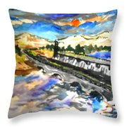 Southern River Dam Throw Pillow