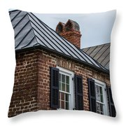 Southern Rooftops Throw Pillow
