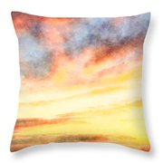 Southern Sunset - Digital Paint Iv Throw Pillow