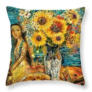 Southern Sunshine Throw Pillow