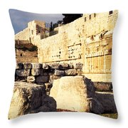 Southern Temple Mount Throw Pillow