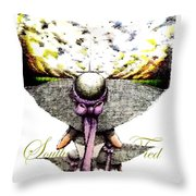 Southern Tied- Three Purple Ribbons  Throw Pillow
