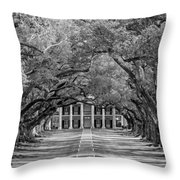 Southern Time Travel Bw Throw Pillow