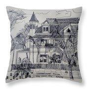 Southernmost House  Key West Florida Throw Pillow