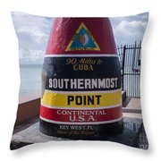 Southernmost Point Marker Throw Pillow