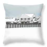 Snow Covered Southfork Ranch   Throw Pillow