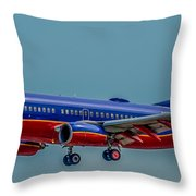 Southwest 737 Landing Throw Pillow