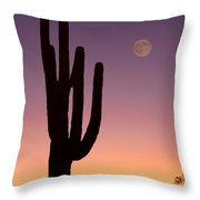 Southwest Desert Moon Glow Throw Pillow