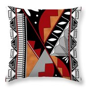 Southwest Collection - Design Seven In Red Throw Pillow