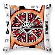 Southwest Collection - Design Six In Red Throw Pillow