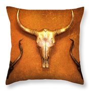Southwest Exotic Style Wall Art Throw Pillow