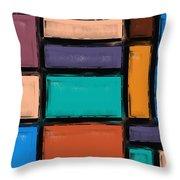 Southwest Home And Garden Color Block Throw Pillow