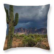 Southwest Monsoon Skies  Throw Pillow