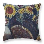 Southwest Sunflowers Throw Pillow