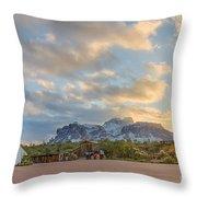 Southwest Sunrise Winter Throw Pillow