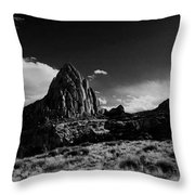 Southwestern Beauty In Black And White Throw Pillow