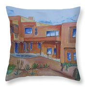 Southwestern Home Illustration Throw Pillow