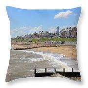 Southwold Beach 2 Throw Pillow