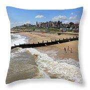 Southwold Beach Throw Pillow
