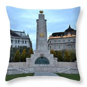 Soviet Red Army Monument Budapest Hungary Throw Pillow