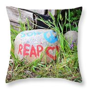 Sow Peace Reap Love Throw Pillow