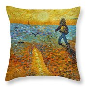 Sower Of Squiggles Throw Pillow