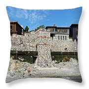 Sozopol Fortress Wall  Throw Pillow