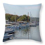 Sozopol Harbour Bulgaria. Throw Pillow