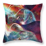 Space Bubble Throw Pillow