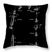 Space Capsule Patent - V2 - Black Throw Pillow