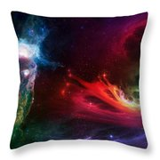 Space Cat Angel - 1 Throw Pillow by Julie Turner