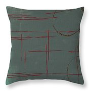 Space Configuration Throw Pillow