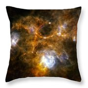 Space Dust Cloud Ngc 7538 Throw Pillow