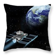Space Exploration, Earth, Illustration Throw Pillow