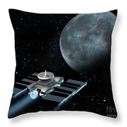 Space Exploration, Moon, Illustration Throw Pillow