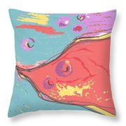 Space Fish Throw Pillow