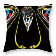 Space Fly Throw Pillow
