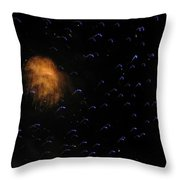 Space Invasion Throw Pillow by Bonnie Clark Weatherford