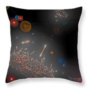 Space Junk Collectors Throw Pillow