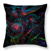 Space Junk Mental Energy From Earth Throw Pillow