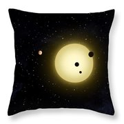 Space Kepler 11 Introduction Throw Pillow
