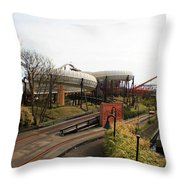 Space Land Throw Pillow