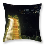 Space Needle And Aurora Bridge Throw Pillow