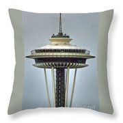 Space Needle Tower Seattle Washington Throw Pillow