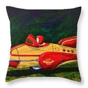 Space Patrol Two Throw Pillow