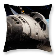 Space Shuttle Atlantis Throw Pillow