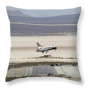 Space Shuttle Atlantis Landing Throw Pillow