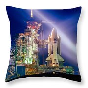 Space Shuttle Columbia Throw Pillow