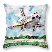 Space Shuttle Landing Throw Pillow