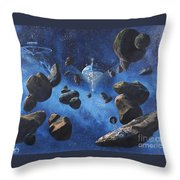 Space Station Outpost Twelve Throw Pillow